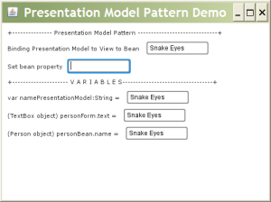 Presentation Model Pattern Demo