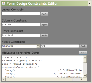 Poor Man's Form Designer Constraints Window