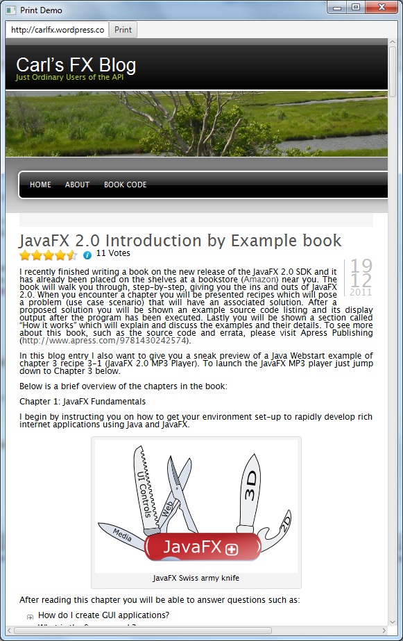 Introduction by Example: JavaFX 8 Printing | CarlFX Blog