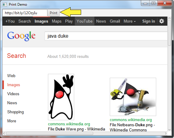 Print Demo using JavaFX 8
