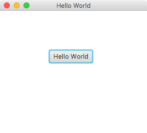 Output of a JavaFX Hello World Application