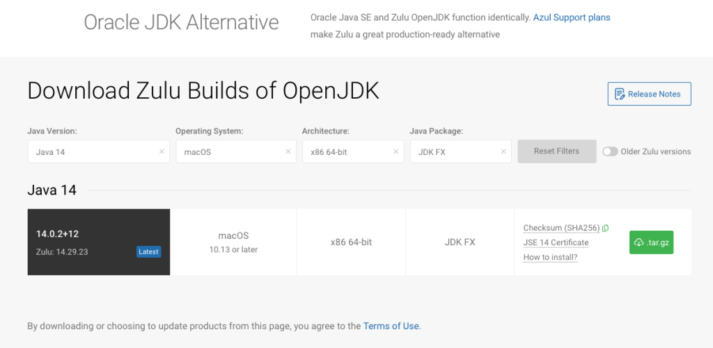 Azul System's Download of OpenJDK